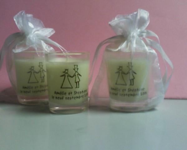 bougies personnalis 233 es pour boutique et mariage option sachet d organza style mariage